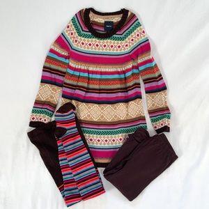 NWOT Gap kids sweater dress with leggings & tights